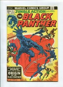 JUNGLE ACTION #8 (6.0) *THE FISHERMAN COLLECTION* BLACK PANTHER ORIGIN 1974