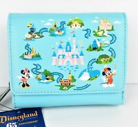 Loungefly Disneyland 65th Anniversary Wallet Embroidered Happiest Place On Earth
