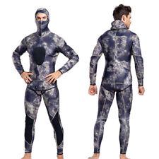 Men's Neoprene 3mm Full Body Warm Scuba Diving Suit Two-piece Snorkeling Wetsuit