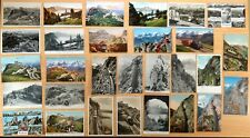29 Postcards Pilatus Bahn Rigi Bahn Burgenstockbahn Railways Switzerland 1902-60