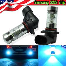 8000K Ice Blue 9005 HB3 Fog Lights 100W LED Samsung 2323 Projector Driving Bulbs