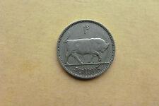 Irish Currency Bull (1/- ) Harp One Nickle Shilling Coin Ireland 1951