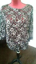 M&S collection black and silver top size 20