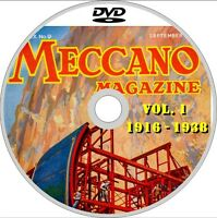 MECCANO MAGAZINE full collection 650 Issues 1916-1981 PDF on 3x DVD & MANUALS!