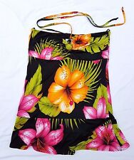 AS NEW Wish Size 12 Top Singlet Blouse Halter Strapless Black Print Tropical