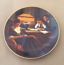 Norman Rockwell Knowles Father's Help Light Campaign SeriesPlate