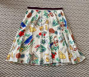 J Crew Hawaiian Skirt Size 00