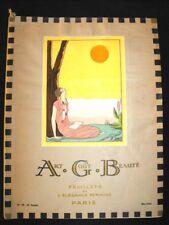 Art Goût Beauté Mai 1926 Art-Déco Feuillets Elegance Féminine Vintage