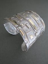 Vintage Modernist Silver Cuff Bangle Bracelet