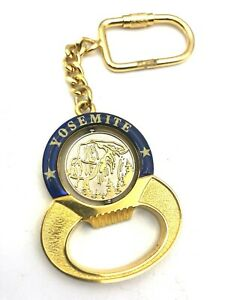 Gold Yosemite National Park California CA Bottle Opener Keychain w Coin