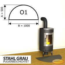 Kaminbodenplatte Funkenschutz Ofenplatte » Ofen « Kaminofenplatte Stahl grau O1
