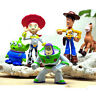 5pcs Toy Story Buzz Woody Characters Action Figures Toys Kids Cake Toppers Set