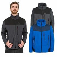Trespass Smoulder Mens Full Zip Fleece Jacket in Blue & Grey