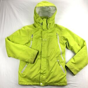Oakley Mens XS Yellow Insulated Ski Snowboard Jacket Hooded