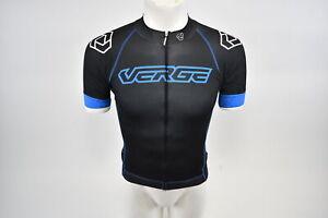 Verge XS Men's Strike Short Sleeve Cycling Jersey Black/Blue New