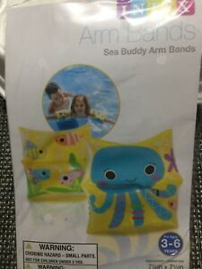 25- Pair Of Intex Children's Swim Aid Water Wings Sea Buddy,mermaid  Arm Bands