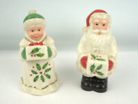 Lenox Holiday Santa and Mrs.Claus Ceramic Salt and Pepper Set New