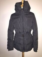 FRESH MADE grey winter women's outdoor down & feather jacket size XS 8 RRP £90