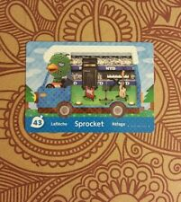 Sprocket 43 Animal Crossing New Leaf Welcome Amiibo Card Nintendo for 3DS
