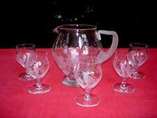 BACCARAT ST LOUIS SET GLASSES SERVICE DE VERRE PICHET CRISTAL GRAVÉ ART DECO AA