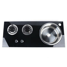 2 Burners Combo LPG Gas Cooktop Hob Stove w/Sink For Boat RVs US