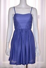JESSICA SIMPSON $128 Blue Day Evening Sun Summer Dress size 6 Small S NEW