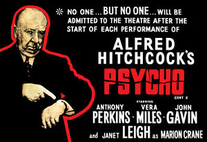 Psycho Poster, No Admittance After the Start of the Show, Alfred Hitchcock