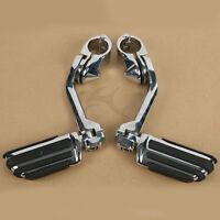 "Adjustable Long Highway 1.25"" Engine Guard FootPegs For Harley Sportster XL 883"