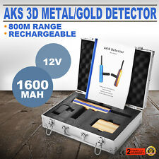 800m AKS 3D Metal Detector metallo/oro Rivelatore +Trasmettitore Diamante 12V