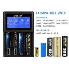 GOLISI I4 4 Slot Battery Charger Multimeter for Li-ion Ni-CD Ni-MH 18650 26650