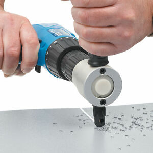 New Nibbler Metal Cutting Double Head Nibbler Saw Cutter Tool Drill Attachment