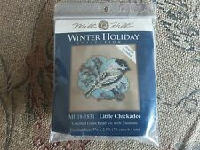 mill hill little chickadee Cross Stitch Plus Beads and magnet