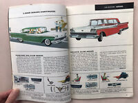 Buyer's Digest NEW CAR FACTS For '59 Ford Motor Vintage