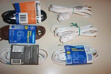 (6) GE & Cordtek POLARIZED INDOOR EXTENSION CORD 3 OUTLET 6 ft NEW
