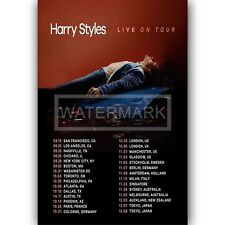 Custom Harry Styles Live on Tour Silk Poster Wall Decor