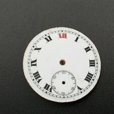 Porcelain Dial (Watch-face) 12 Red Antique Swiss Pocket Watch Original White