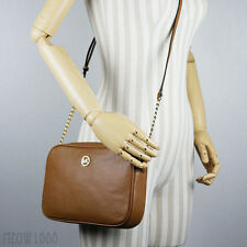 New Micheal Kors FULTON Acorn Tan Pebbled Leather Crossbody Messenger Bag Purse