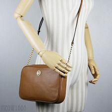 New Micheal Kors FULTON Acorn Tan Pebbled Leather Crossbody Messenger Bag Purse