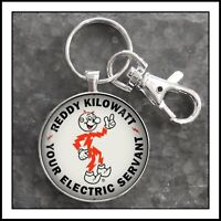 Reddy Kilowatt Sign Photo Keychain Gift Collectible Free Shipping🎁