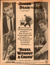 Rebel Without A Cause 1955 Original Magazine ad starting James Dean second image