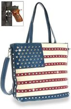 Women's NEW American Flag Jeweled Conceal and Carry Handbag