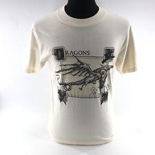 Vintage Dragons Del Sol T-Shirt Changes Color in Sun Medium Made USA Beige H4B