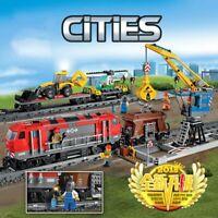 LEGO COMPATIBIL.E 100% CITIES ☆ 1033pz ►TRENO TRASPORTO MERCI R/C◄ ►NEW◄ PERFECT