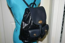 COACH Turnlock Rucksack BACKPACK in Navy Blue CROC Embossed LEATHER 37736 $495
