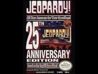 Jeopardy! 25th Anniversary Edition Nintendo NES Game Used