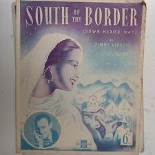 Songsheet sur de la frontera (México) Monte Ray 1939