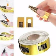 Gold Nail Art Form Sticker Self-adhesive Extension Guide Acrylic Tips UV Gel UK