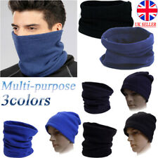 Thermal Neck Warmer Snood Winter Scarf Cowl Tube Fleece Ski Motorcycle  For Men