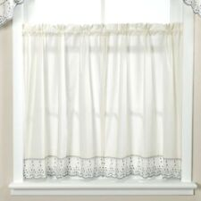 Embroidered Cafe Tier Curtains For Sale