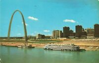 Postcard Gateway Arch SS Admiral St Louis Missouri